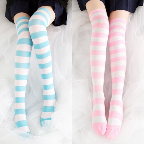 Tight High Over Knee Pink Blue Stocking