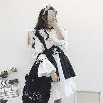 Maid Vintage Ruffles Skirt Puff Sleeve