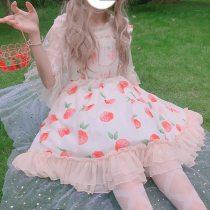 JSK Sweet Fuint Print Sleeveless Dress
