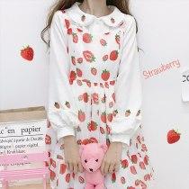 Lolita Dress Strawberry Printing Loose Victorian Dress