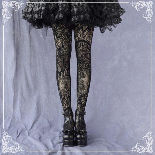 Punk Dark Vintage Gothic Style Lolita Silk Stockings