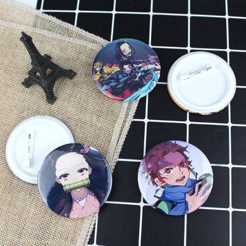 Kimetsu No Yaiba Buttons Badges Brooch Lapel Pins