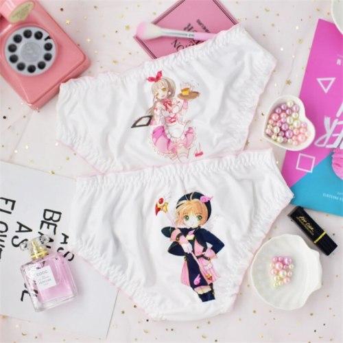 Card Captor Print Low Waist Underwear