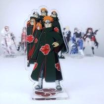 Anime NARUTO Uchiha Itachi Uchiha Sasuke Uzumaki Naruto Pain Cosplay Desk Acrylic Desk Figure Stand Model Plate Decor Gift