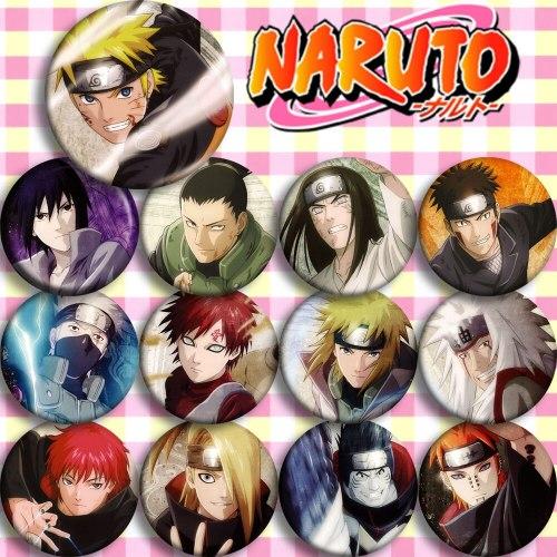 Anime Naruto Shippuuden Minato Sasuke Kakashi Itachi Pein Sasori Kisame Cosplay Badge