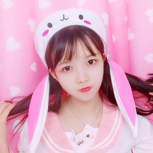 Students Japanese Sweet Lolita Cute Long Rabbit Ear Beret Lovely Soft Girl Cartoon Painter Hat Flat Cap Spring Autumn Female Hat