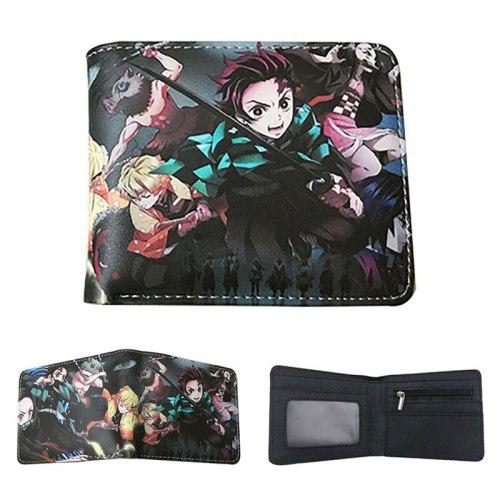 Demon Slayer: Kimetsu No Yaiba Kamado Tanjirou Student's Bag Card Bag PU Leather Wallet