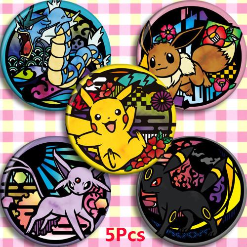 58mm Anime Pokemon Cosplay Badge Cartoon Collect Backpack Bag Badge Button Brooch Pin Bag Pendant Xmas Gifts