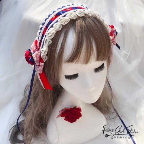 Tradescantia sillamontana Lolita Retro Rose Hairpin KC Hairband Top Hat Sweet Princess Bow Side Clip Headband Hair Accessories