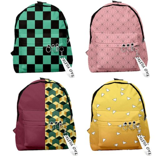 Demon Slayer: Kimetsu no Yaiba Backpack Canvas Bag Kamado Tanjirou School Bags Girl Mochila Feminina Nezuko Notebook Bag Cosplay