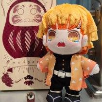 Demon Slayer Kimetsu no Yaiba Agatsuma Zenitsu Cosplay Pillow Plush Doll Plushie Toy Change suit Dress Up Clothing Xmas Gifts