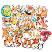 25pcs Welsh Corgi Pembroke Cartoon Stickers Cute Animals Dog For Moto Car & Suitcase Cool Laptop Stickers Skateboard Sticker