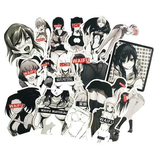 30pcs Waifu Stickers Anime Pinup Girl Laptop Love Vinyl