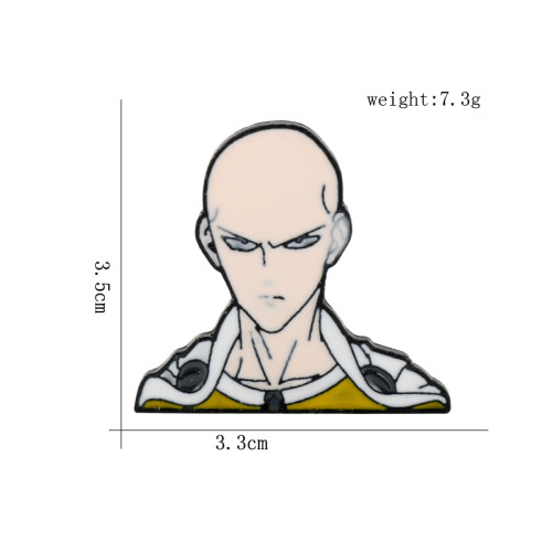 Anime One Punch Man Enamel Brooches