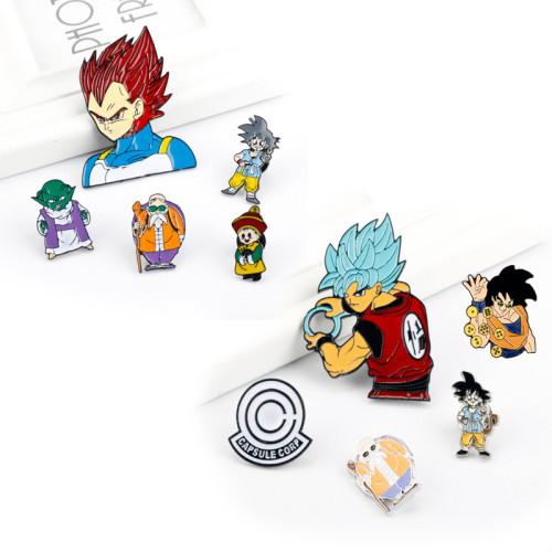 Cartoon Dragon Ball Pins Metal Enamel Pins and Brooches
