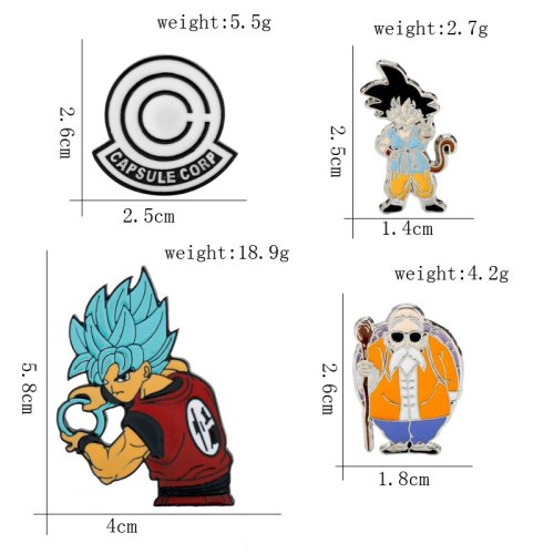 Anime Dragon Ball Metal Enamel Pins Brooches