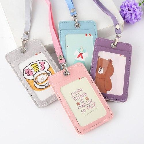 Cartoon Candy Leather Card Holder
