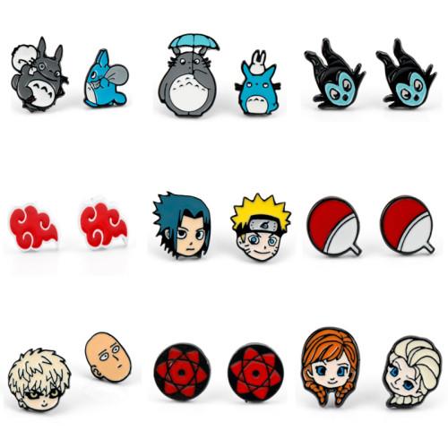 Cartoon ONE PUNCH-MAN NARUTO Totoro Anime Stud Earrings