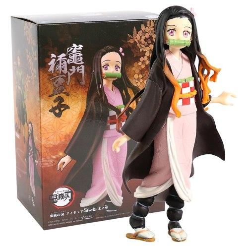 Demon Slayer Kimetsu no Yaiba Figure Tomioka Giyuu Hashibira Inosuke Kamado Tanjirou Nezuko Zenitsu Figurine Action Figure