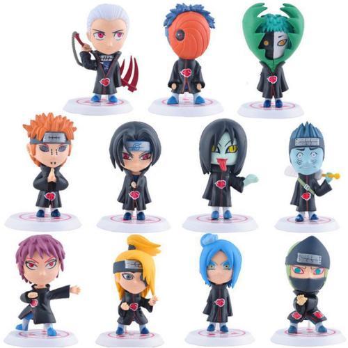 Anime Naruto PVC Action Figure Toys Q Version Akatsuki Organization All Members Model Figures 11PCS/Set