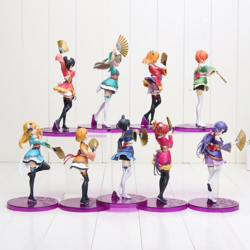 anime 17cm Love live action figure fate zero MINAMI KOTORI SONODA UMI HOSHIZORA RIN TOJO NOZOMI KIMINO PVC collection toy