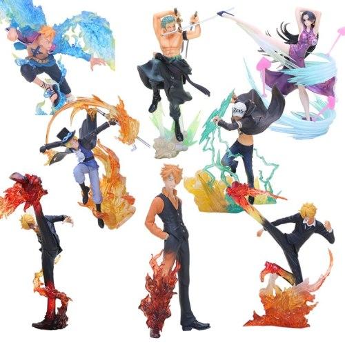 Anime One Piece Figure Shanks Sanji Figure Sabo Boa Hancock Trafalgar Law one piece Marco Battle Ver. PVC Model Christmas Gifts
