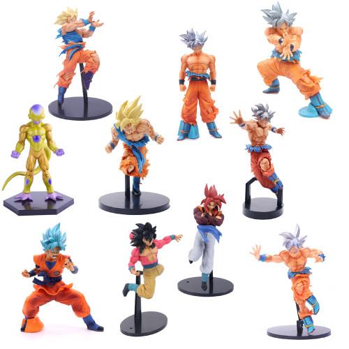 1PCS Anime Dragon Ball Z Action Figures Super Saiyan Son Goku Frieza 13-26CM Figurine Collection Model Toys