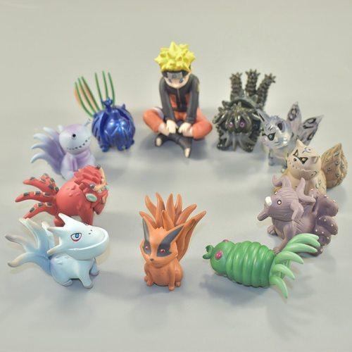 NEW Arrivals 11 Pcs/set Naruto Action Figure PVC Toys Uzumaki Naruto Figure Bijuu Kyuubi Christmas Kids Collection Model Toys