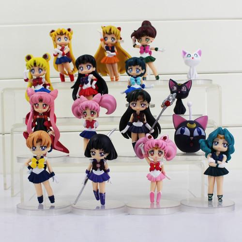 4Pcs/Lot 16 Styles Sailor Moon Tsukino Mars Jupiter Saturn Mercury Venus PVC Dolls