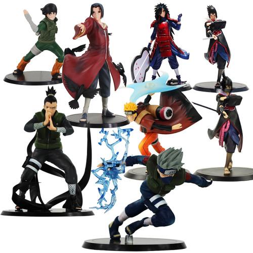 Set of 2 Naruto Shippuden Kakashi Shikamaru Hinata Madara Uchiha Itach Jiraiya Minato PVC Toys