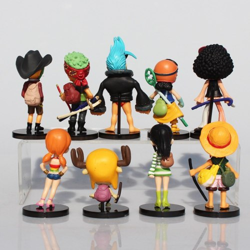 Anime One Piece Action Figures Luffy 9Pcs/Set