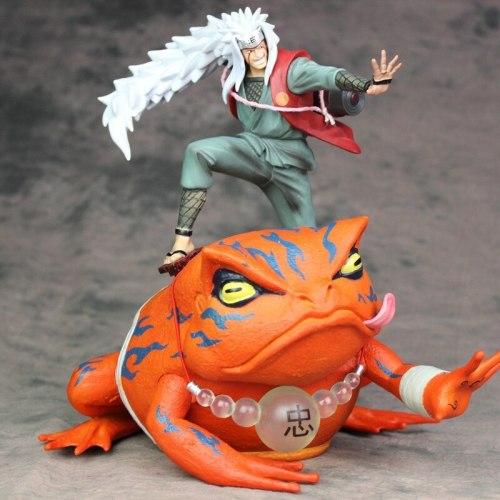 2Pcs/Set 26CM Naruto Jiraiya Gama Bunta Action Figure PVC Toys