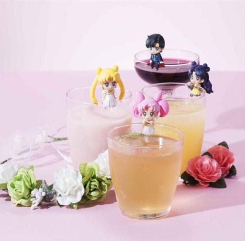 6Pcs/Set sailor moon Tsukino Usagi Venus Mercury cupanime model toys