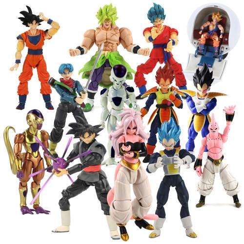 Dragon Ball Super Evolve Super Saiyan Broly Trunks Vegeta Buu SHF PVC Action Figure Toys