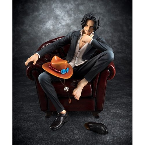 MegaHouse Onepiece ACE Chair Anime Action Figure PVC