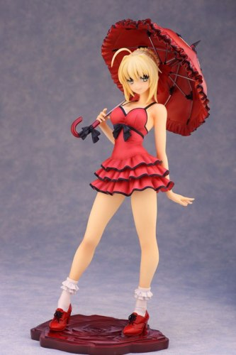 Red Dress Saber Nero Anime Fate Stay Night Figure Action 24CM