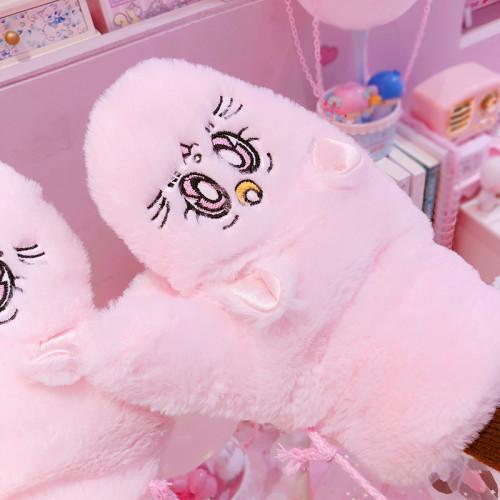 Sakura Thick Plush Winter Gloves