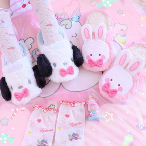Puppy Rabbit Indoor Warm Lightweight Cotton Shoes