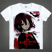 Another Misaki Mei Printed  Another Izumi Akazawa O-Neck T-Shirt