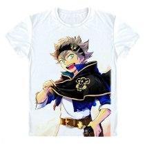 Anime Black Clover Asta Yuno Noell Silva Emperor Printed T-Shirt