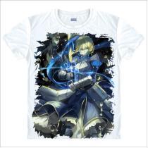 Fate Zero/Fate Stay Night Saber Curse Emblem King Arthur Knight T-Shirt