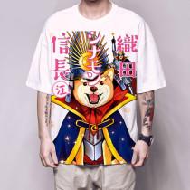 Anime Oda Cinnamon Nobunaga Shiba Inu Dog  Harajuku  5 Sleeve T-Shirt