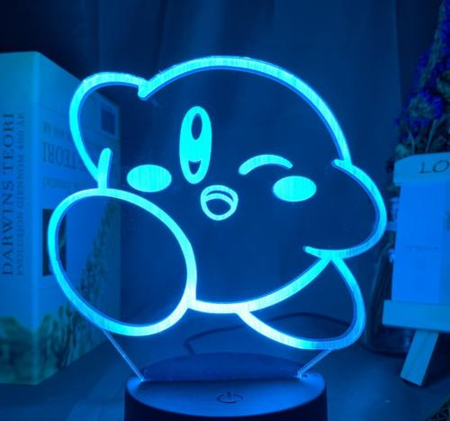 Kirby Acrylic Led Remote Control 3D Night Light