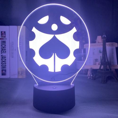 JOJO's Wonderful Adventure LED Colorful Remote Control Acrylic 3D Night Light