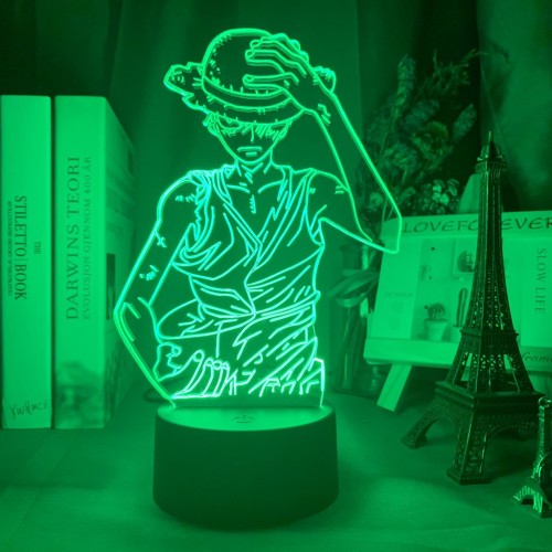 One Piece USB Battery Powered Acrylic LED Colorful Touch Remote 3D Night Light