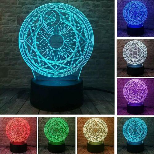 Magical Card Captor Professional Smart 7 Colors Change LED Night Light