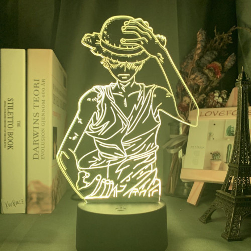 One Piece Monkey D Luffy Acrylic LED Night Light
