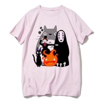 Japanese Anime Totoro Shirt Men Studio Ghibli Miyazaki Hayao Anime Spirit Away T Shirt Men Women Cartoon Clothes Summer T-Shirt