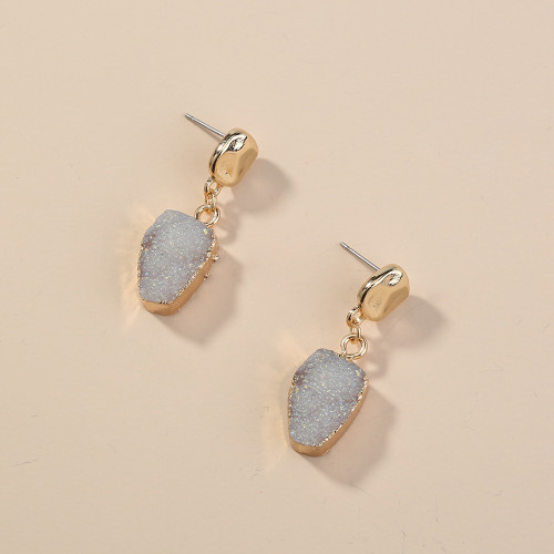 Irregular AB Color Cluster Design Earrings