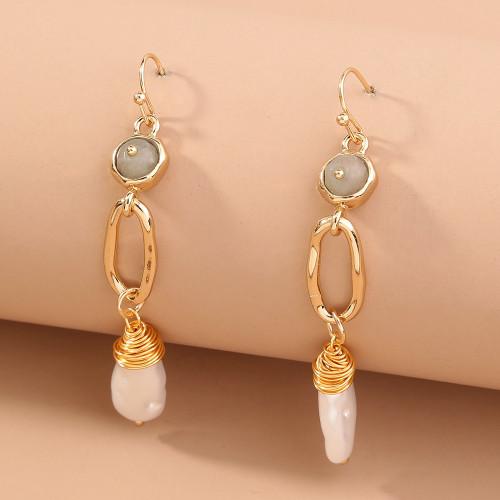 Pearl Long Tassel Retro Earrings